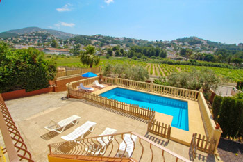 Villa Juliasol  beach villa to rent in Moraira Costa Blanca Spain your holiday villas