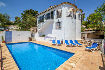 Villa Ana a delightful villa located in the town of Moraira. A holiday home on the Costa Blanca in Spain.