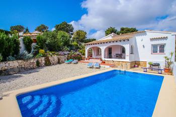 Villa Susana to rent Costa Blanca on the town of Moraira the villa Susana