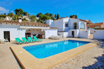 Villa Mabruka a delightful villa located in the town of Benissa. A holiday home on the Costa Blanca in Spain.