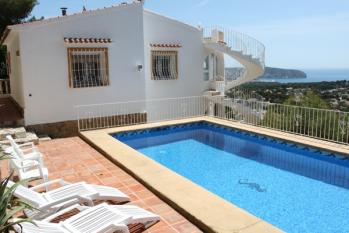 Villa Bellevue a delightful villa located in the town of Benissa. A holiday home on the Costa Blanca in Spain.