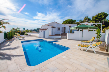 Villa Marcelo a delightful villa located in the town of Moraira. A holiday home on the Costa Blanca in Spain.
