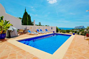Villa Argentario in Benissa, Spain. Villa Michelle great holiday home on the Costa Blanca