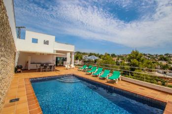 Modern holiday villa Elena Baladrar for rent  located on the coast side of Benissa in Costa Blanca Spain