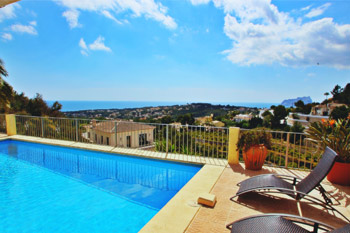 Alegria is a holiday home in Moraira in the Costa Blanca region